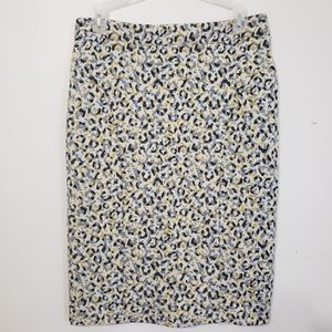 Anthropologie | Pencil Straight Abstract Skirt M